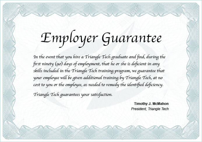 Employer Guarantee