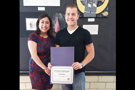 Pictured from Left to Right: Ashley Kessler, High School Representative and RHVAC Scholarship Winner, Cole LaRock