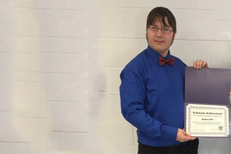 Pictured: CADD Scholarship Winner, Nathan Rall